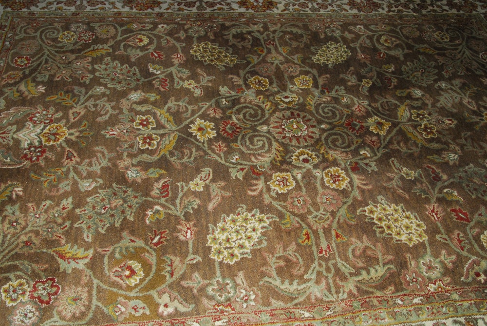 Hand Tufted Quot Rajah Quot Persian Style Indian Wool Area Rug Ebth