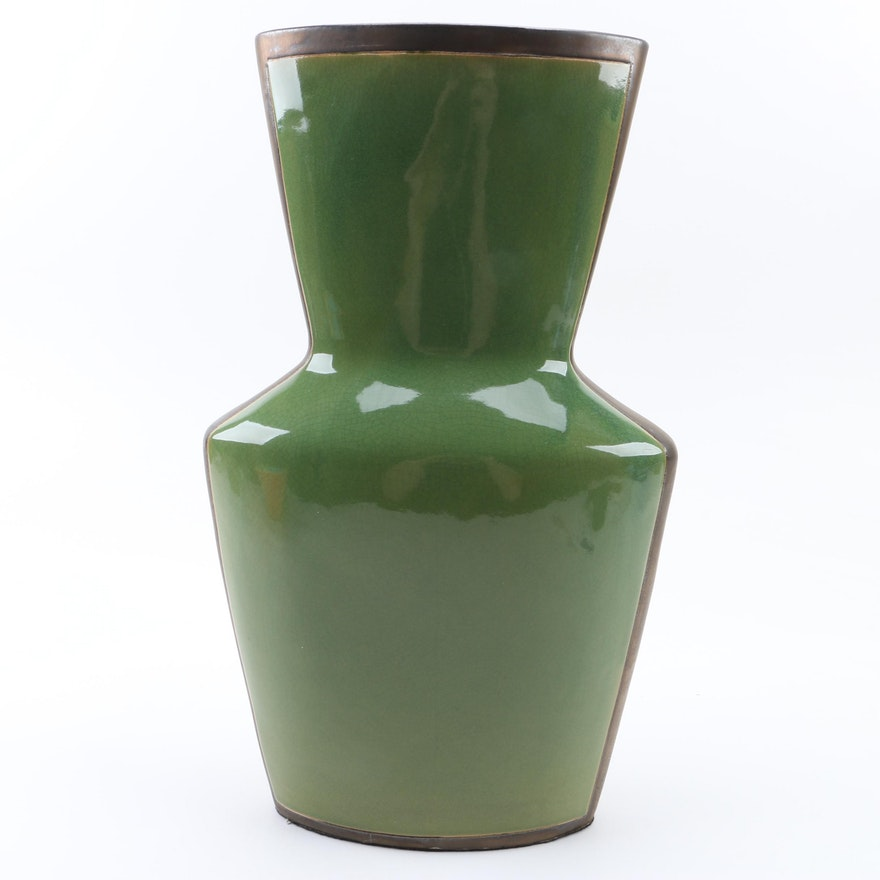 Green Ceramic Floor Vase : EBTH on green air vase, green pedestal vase, green stone vase, green floor mirror, green japanese vase, green crystal vase, green roseville vase, green metal vase, green ceramic vase, green blown glass vase, green glazed vase, green floor fan, green floor design, green lamp vase, green dragon vase, green flower vase, green pottery vase, green art glass vase, green bamboo vase, green floor chest,