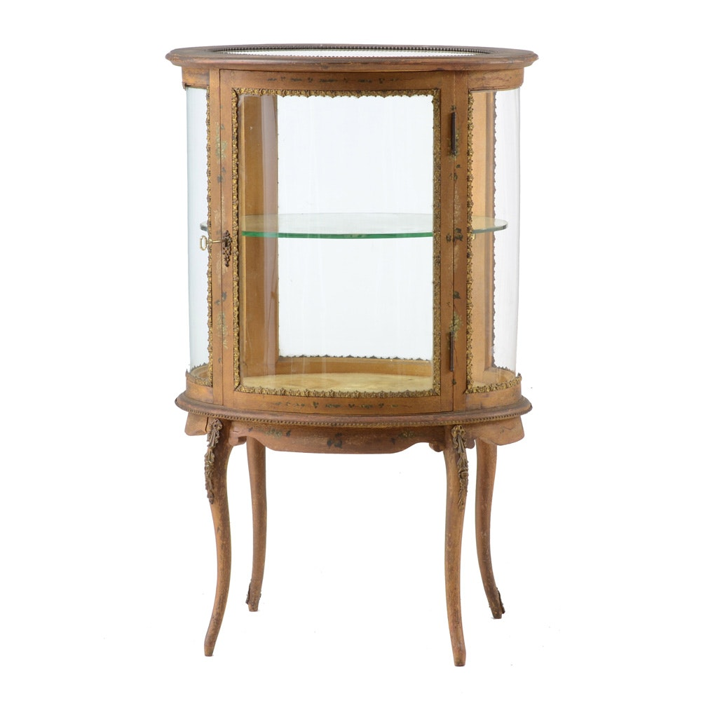 Antique French Vitrine Display Cabinet ...
