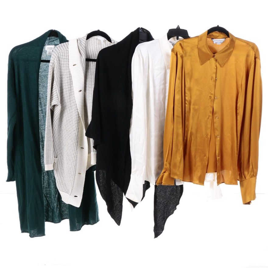 Womens Sweaters And Blouses Including Escada And Neiman Marcus Ebth