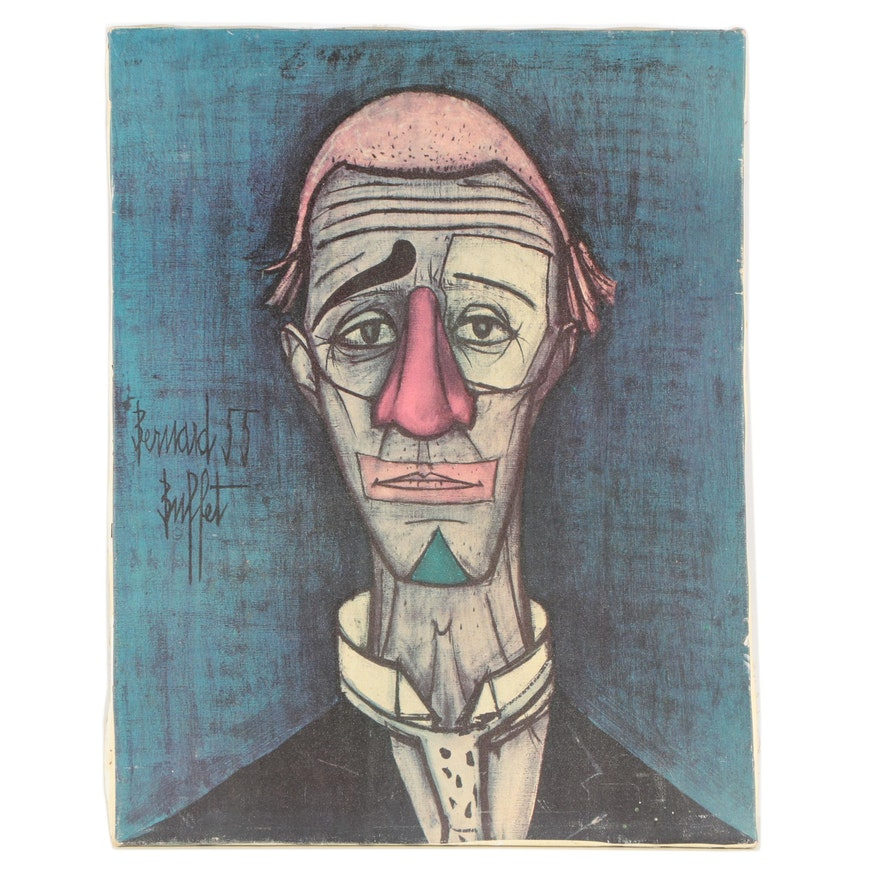 Phenomenal After Bernard Buffet Offset Lithograph Print Tete The Clown Interior Design Ideas Apansoteloinfo