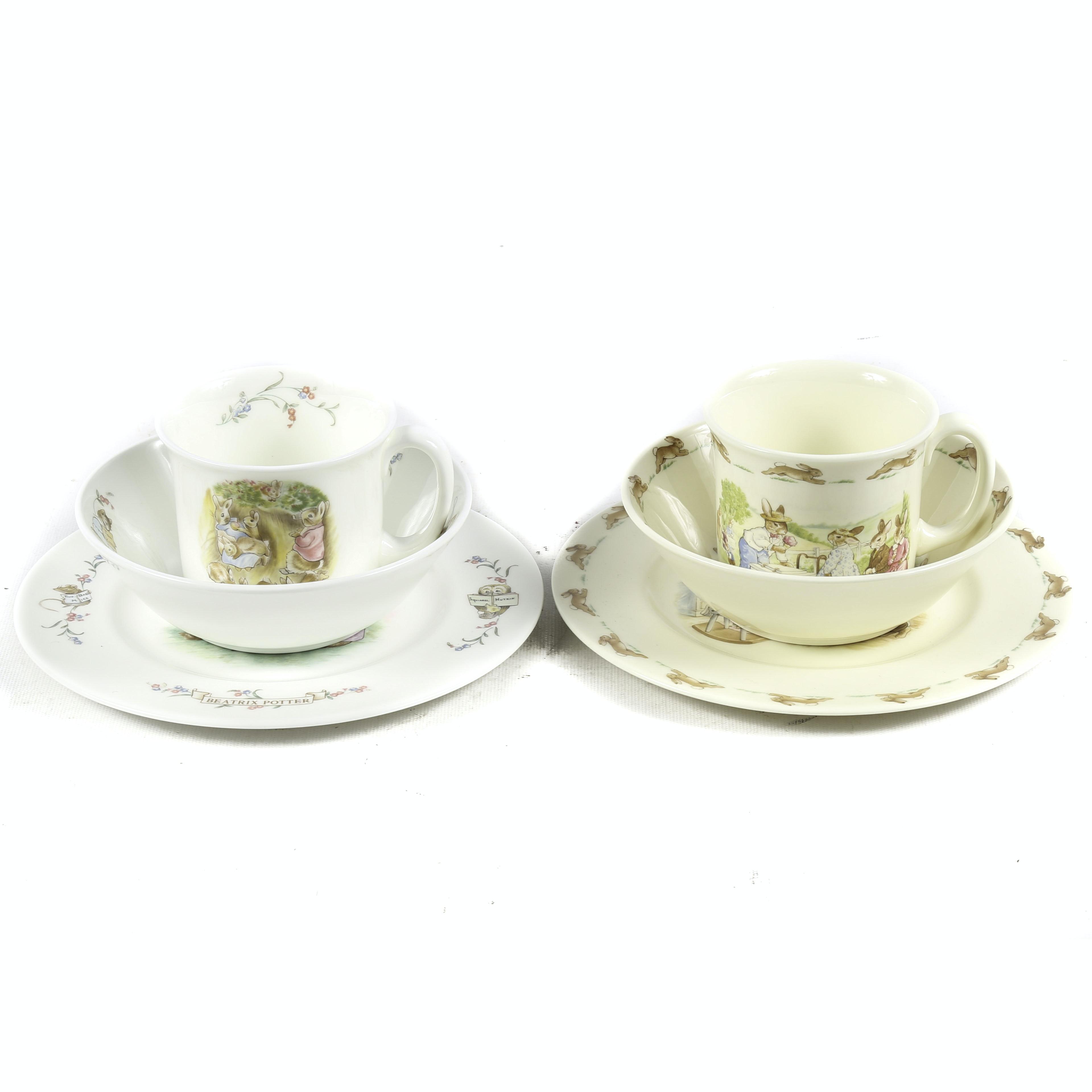Beatrix Potter and Bunnykins Childrenu0027s Dinnerware ...  sc 1 st  EBTH.com & Beatrix Potter and Bunnykins Childrenu0027s Dinnerware : EBTH