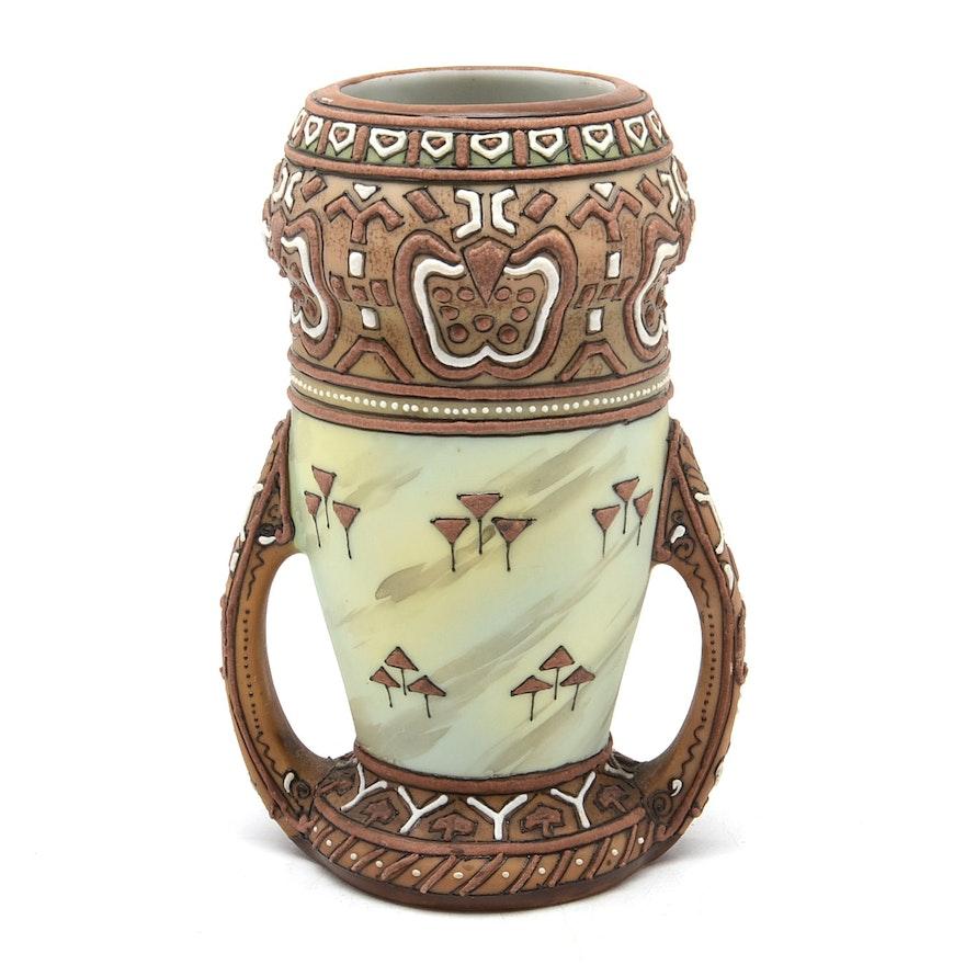 Antique Nippon Vase Ebth