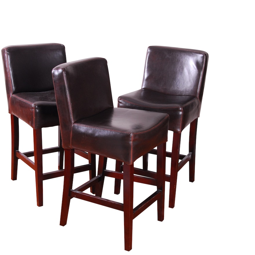 Fine Bonded Leather Counter Stools By Four Hands Squirreltailoven Fun Painted Chair Ideas Images Squirreltailovenorg