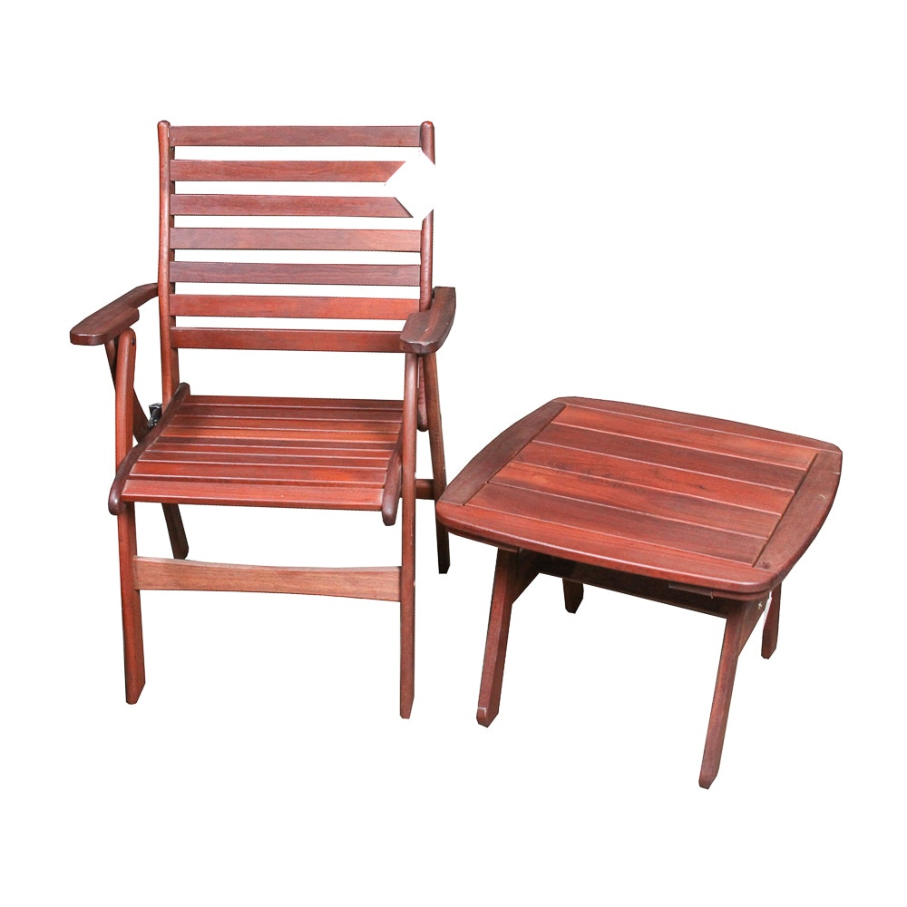 Teak Side Chair and Table Including Inglewood Elements