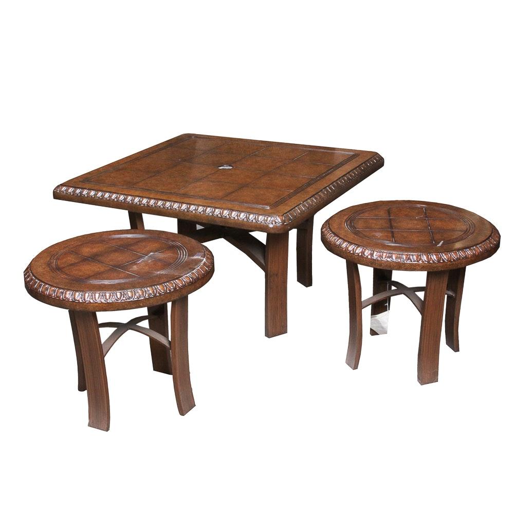 Metal Base Patio Tables by Woodard