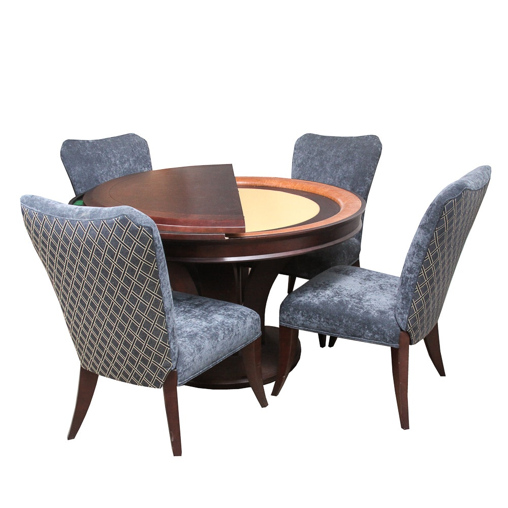 Mikhail Poker Table with Upholstered Chairs