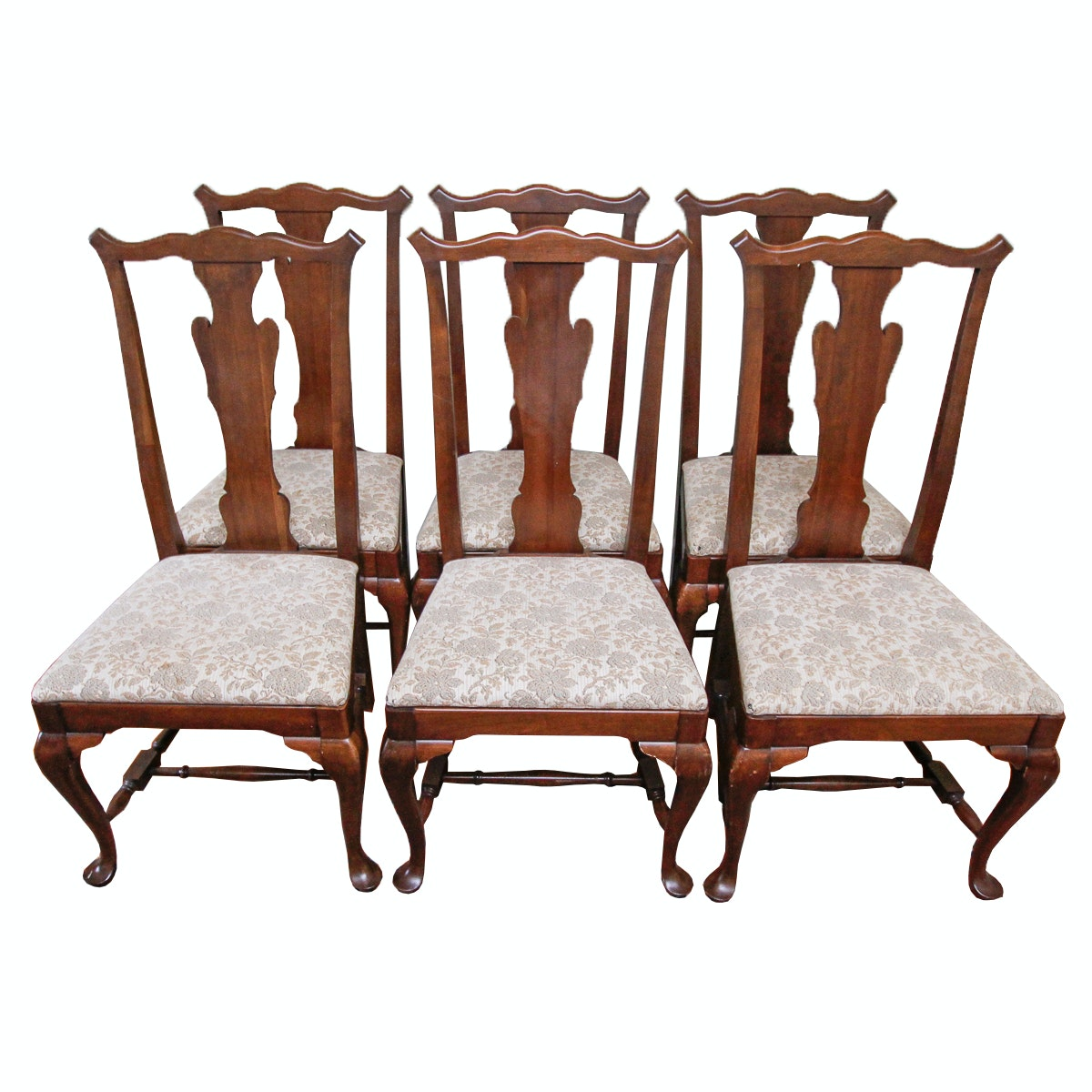 Set of Vintage Queen Anne Style Dining Chairs by Herald Furniture