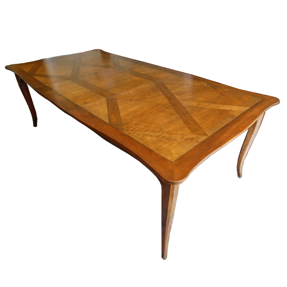 Baker Furniture Fruitwood Parquetry Dining Table EBTH