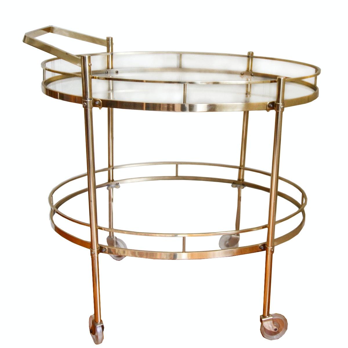 Mid Century Style Gold Bar Cart