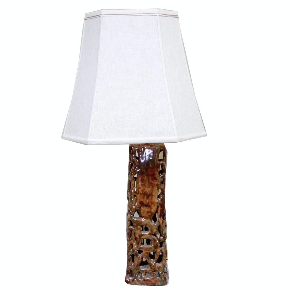 Ceramic Pillar Table Lamp ...