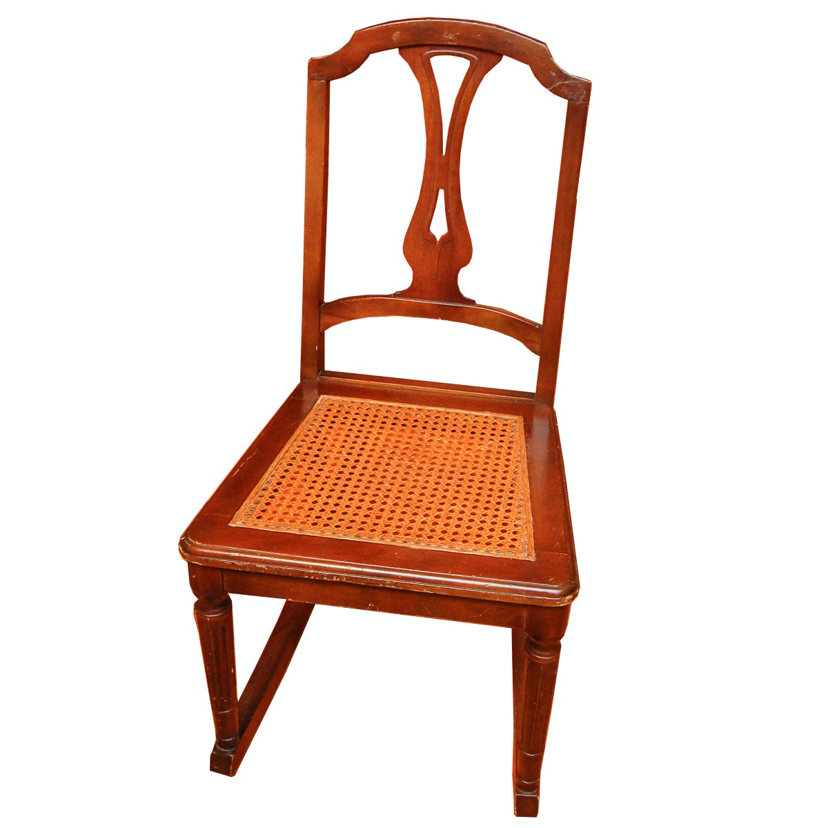 Vintage Cane Seat Rocking Chair