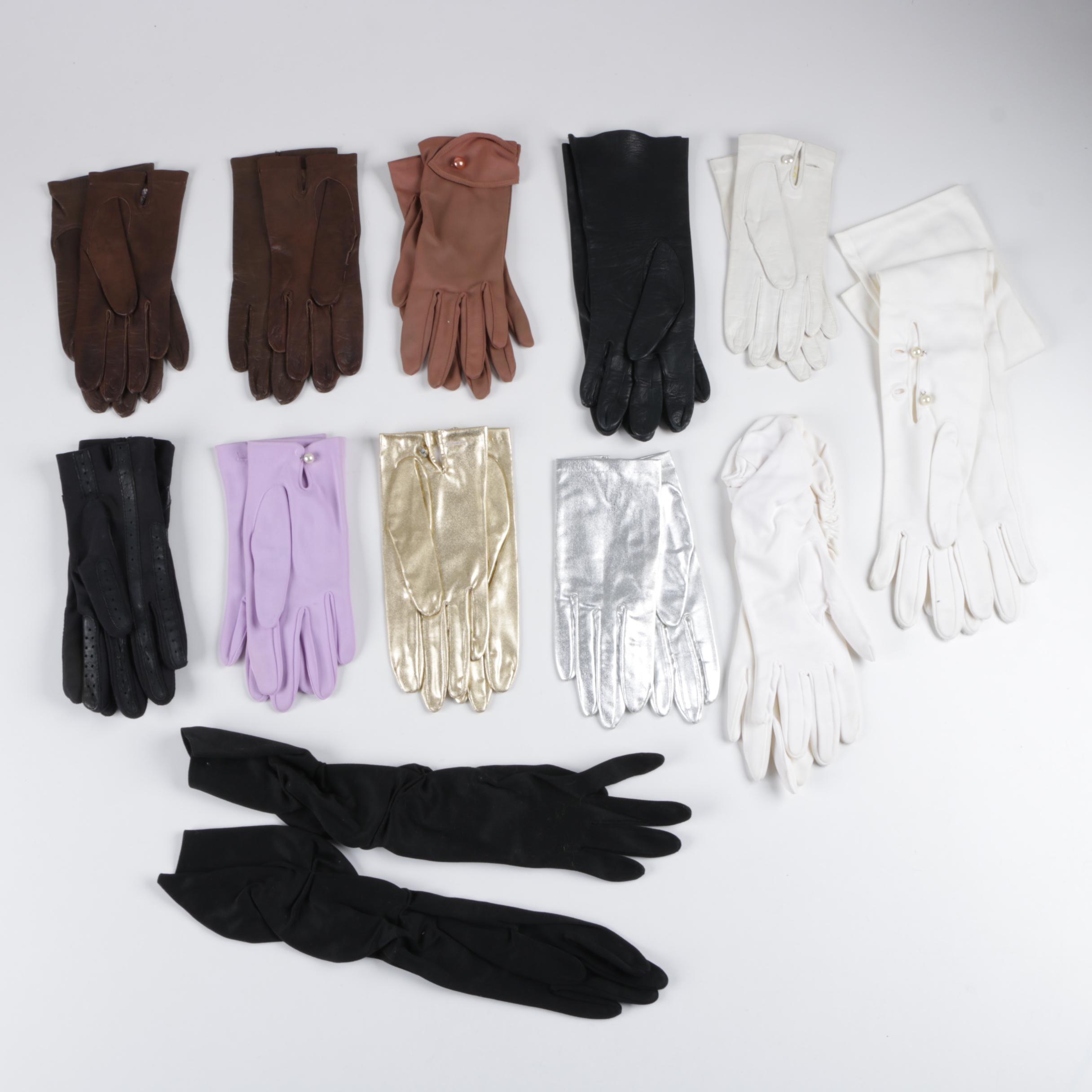 Women's Vintage Gloves Including Stetson and Brandoe