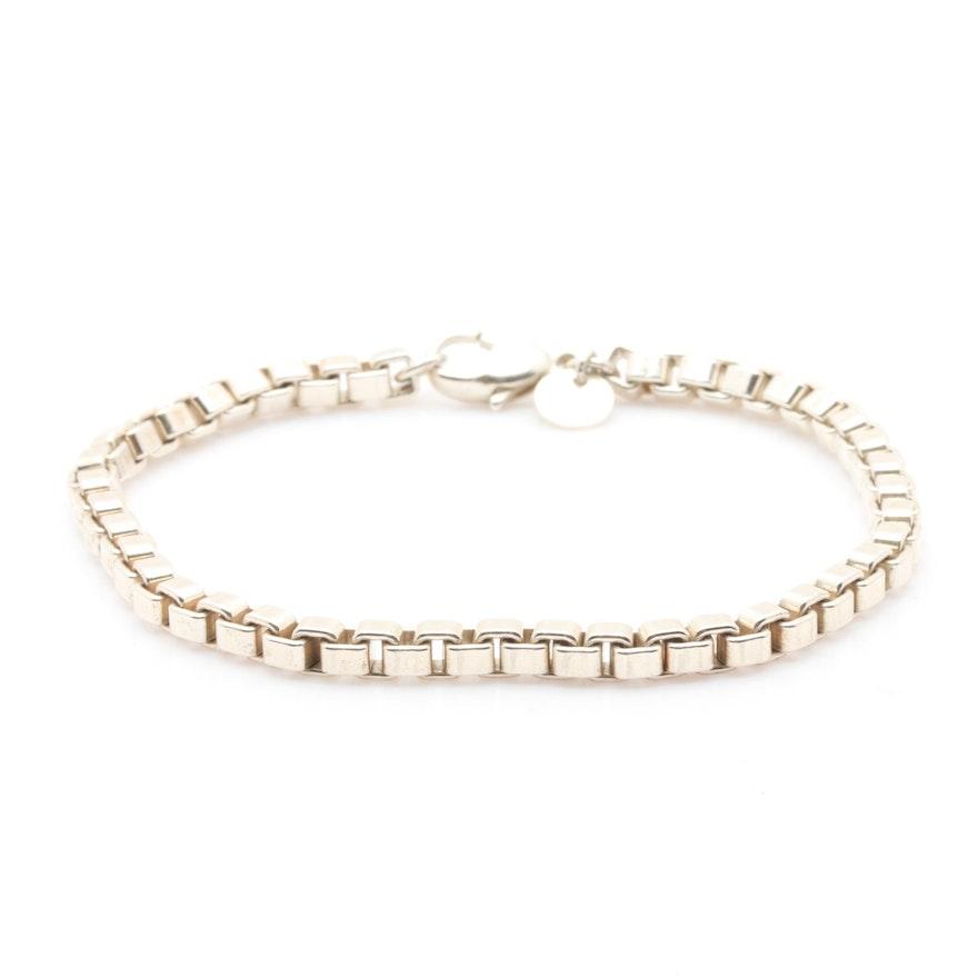 Vintage Tiffany Co Sterling Silver Briolette Link Bracelet Ebth