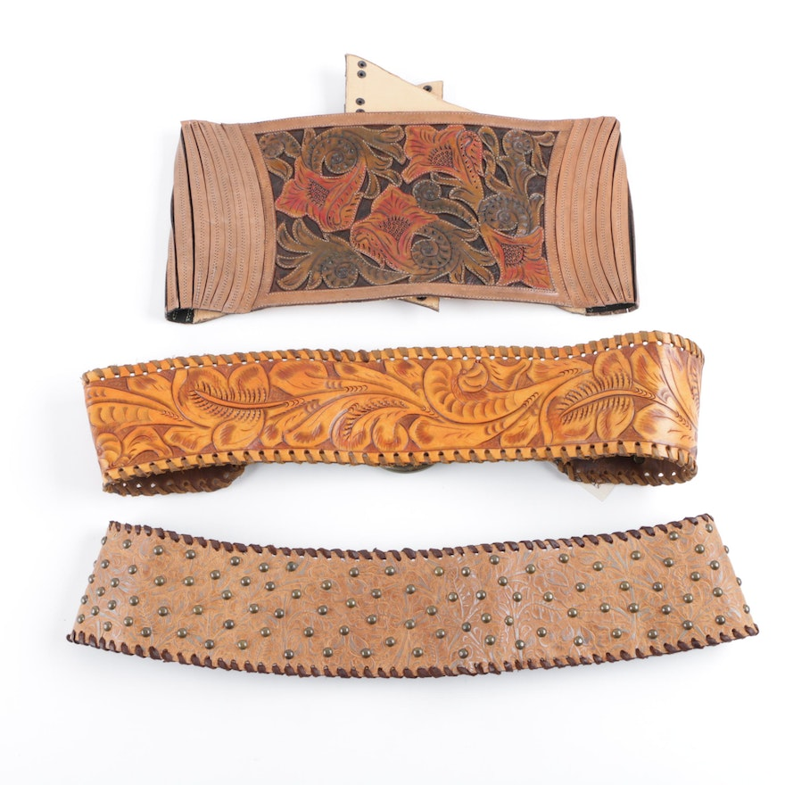 5fd51e63393 Women s Tooled Leather Belts   EBTH