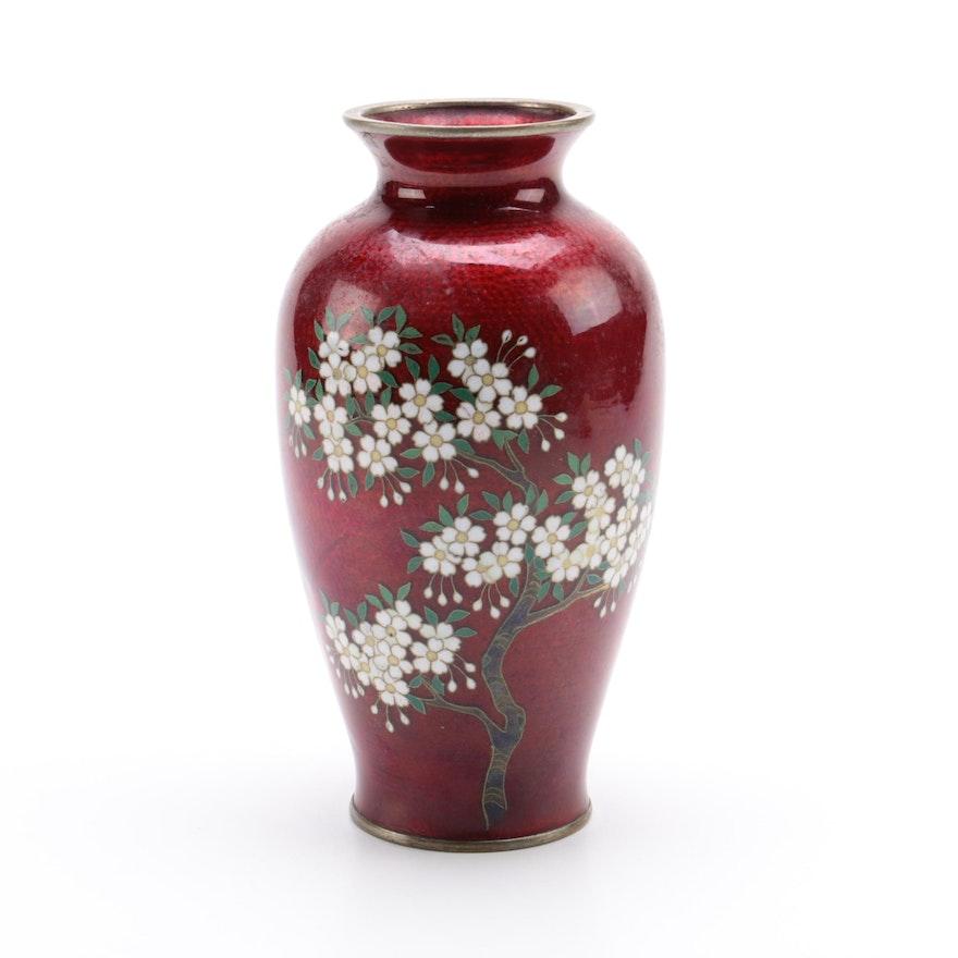 Yamamoto Japanese Cloisonn Vase Ebth