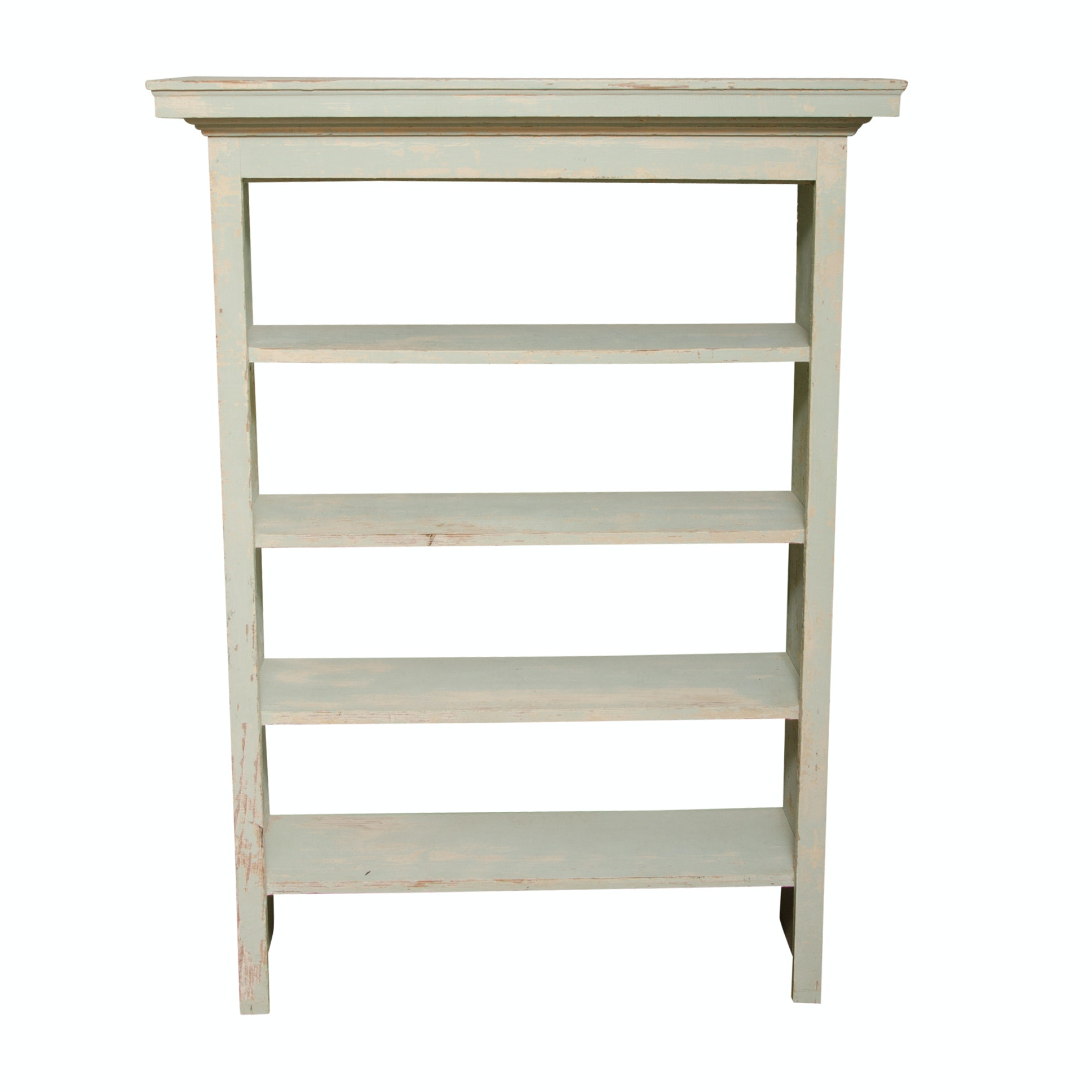 Vintage Wooden Tiered Shelf with Painted Finish
