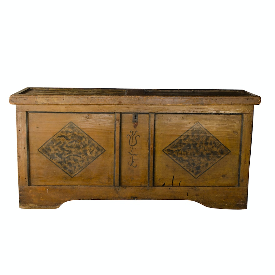 Antique Pennsylvania Dutch Blanket Chest ... - Antique Pennsylvania Dutch Blanket Chest : EBTH