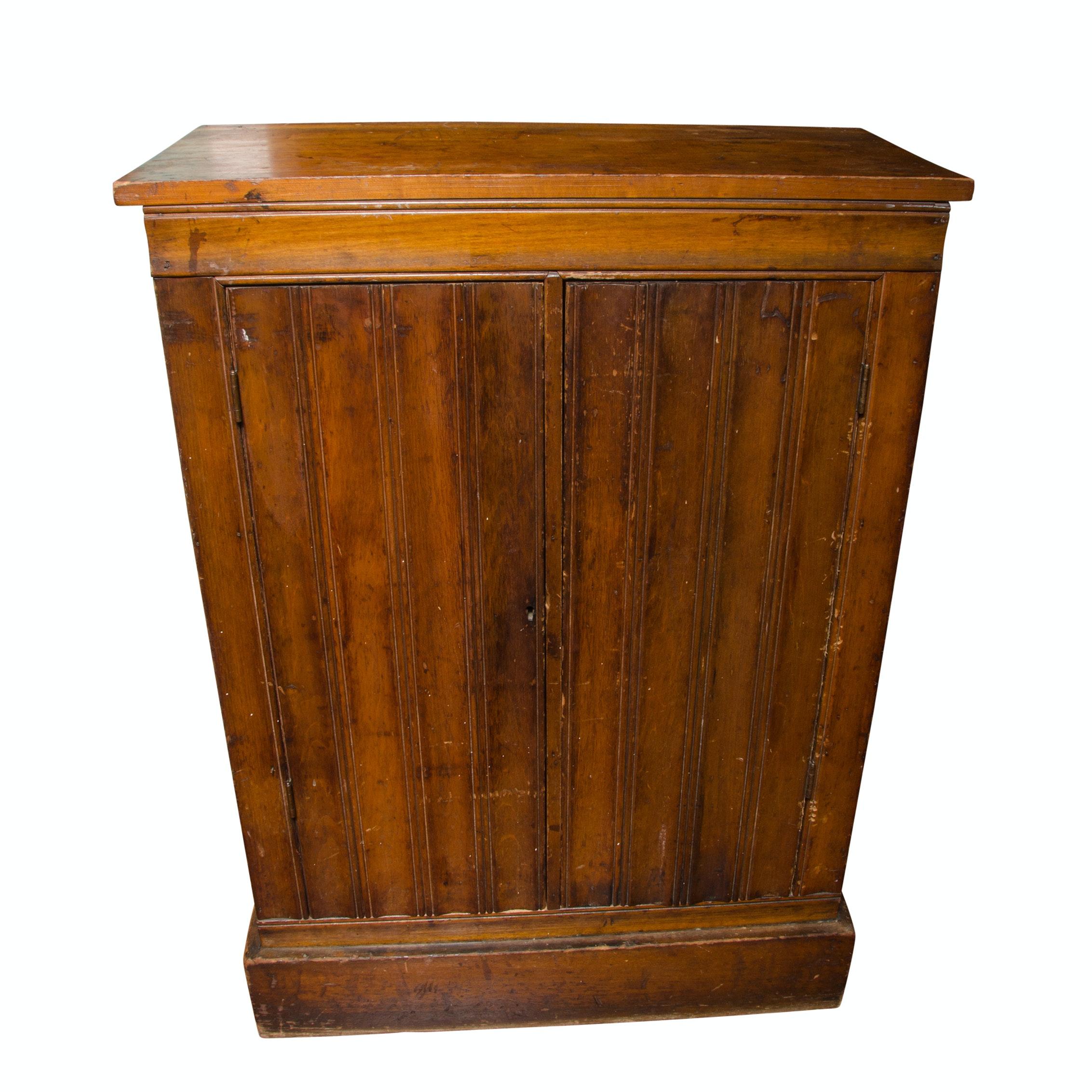 Vintage Pine Wood Cabinet
