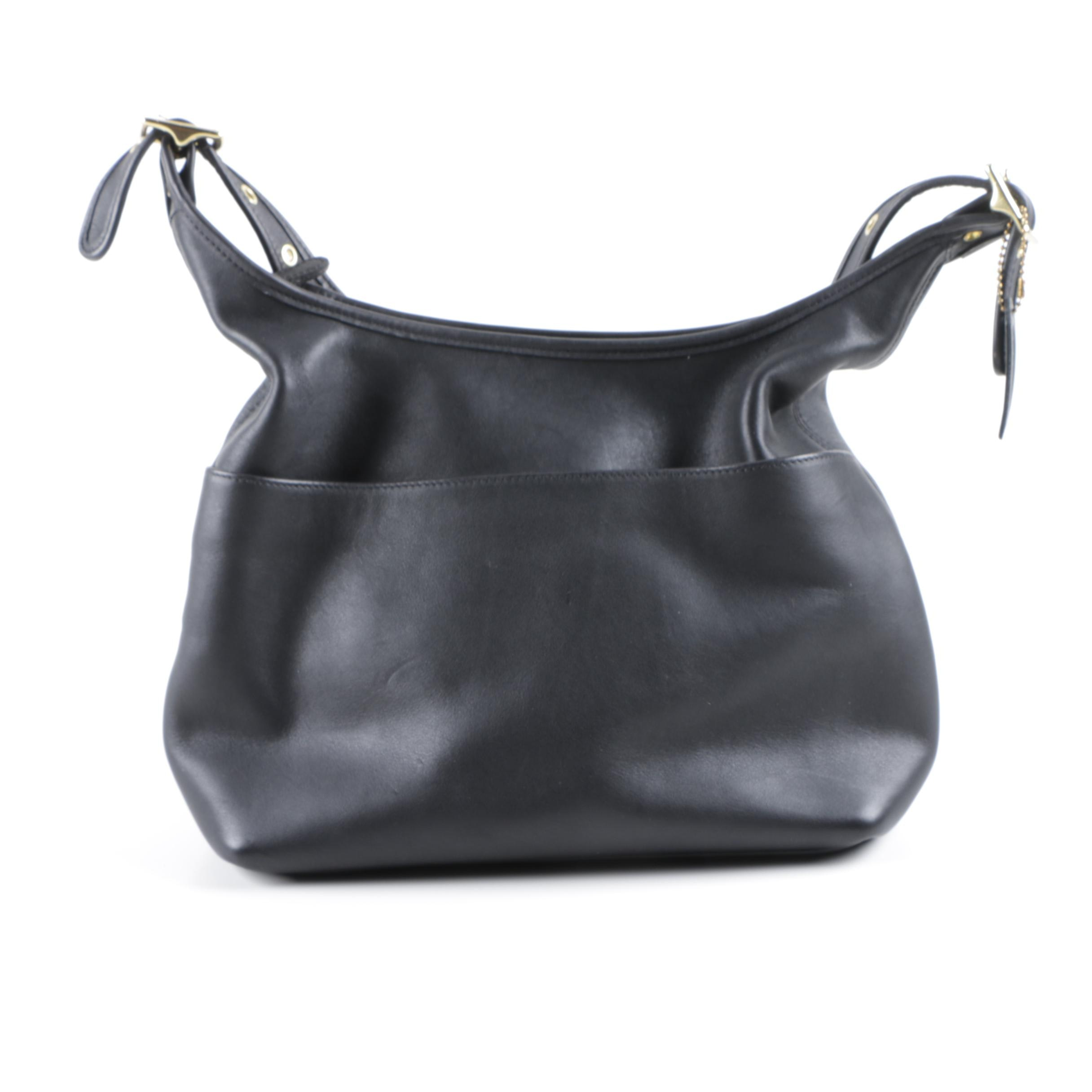 2001 Coach Legacy Black Leather Hobo Bag