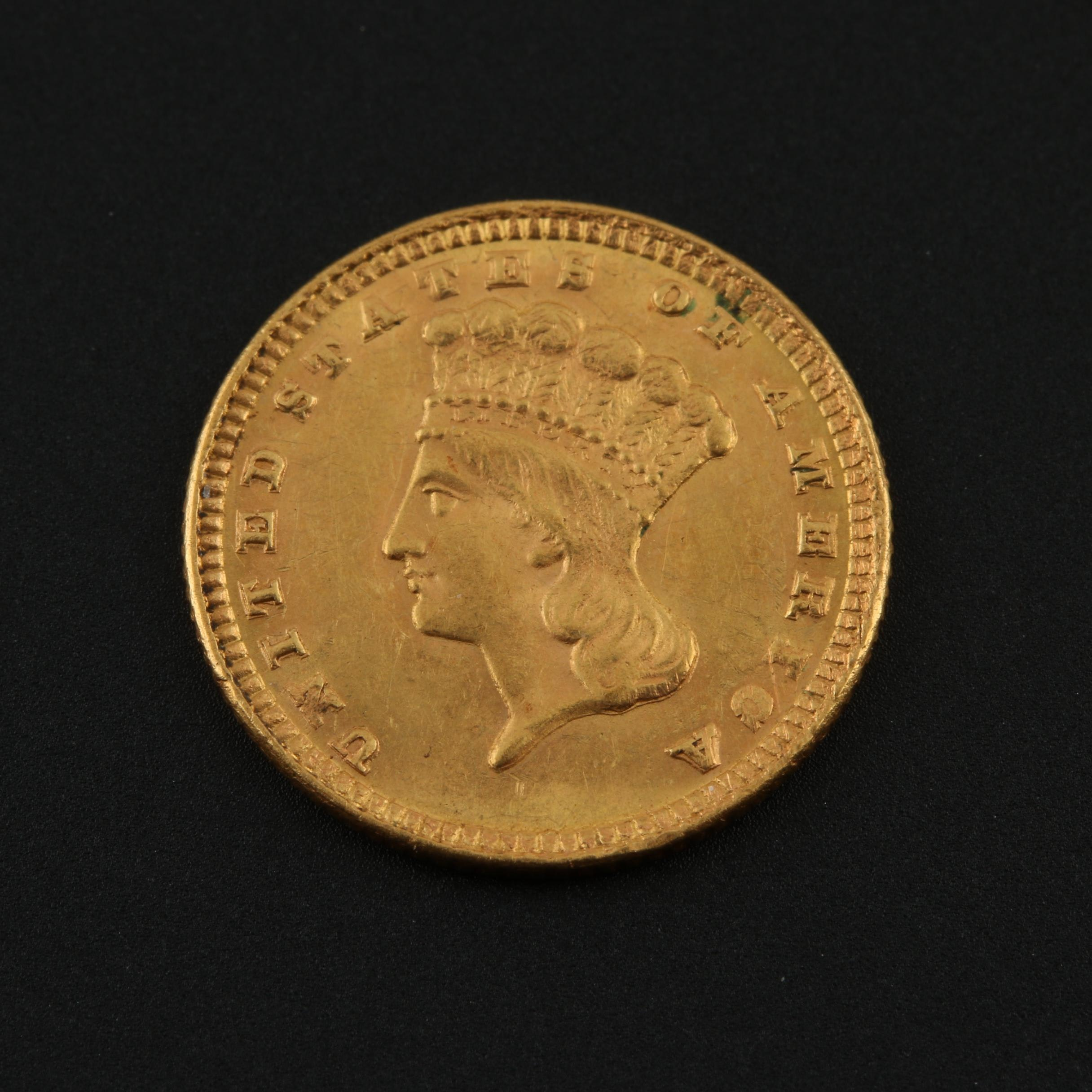1885 Indian Princess Head Gold Dollar