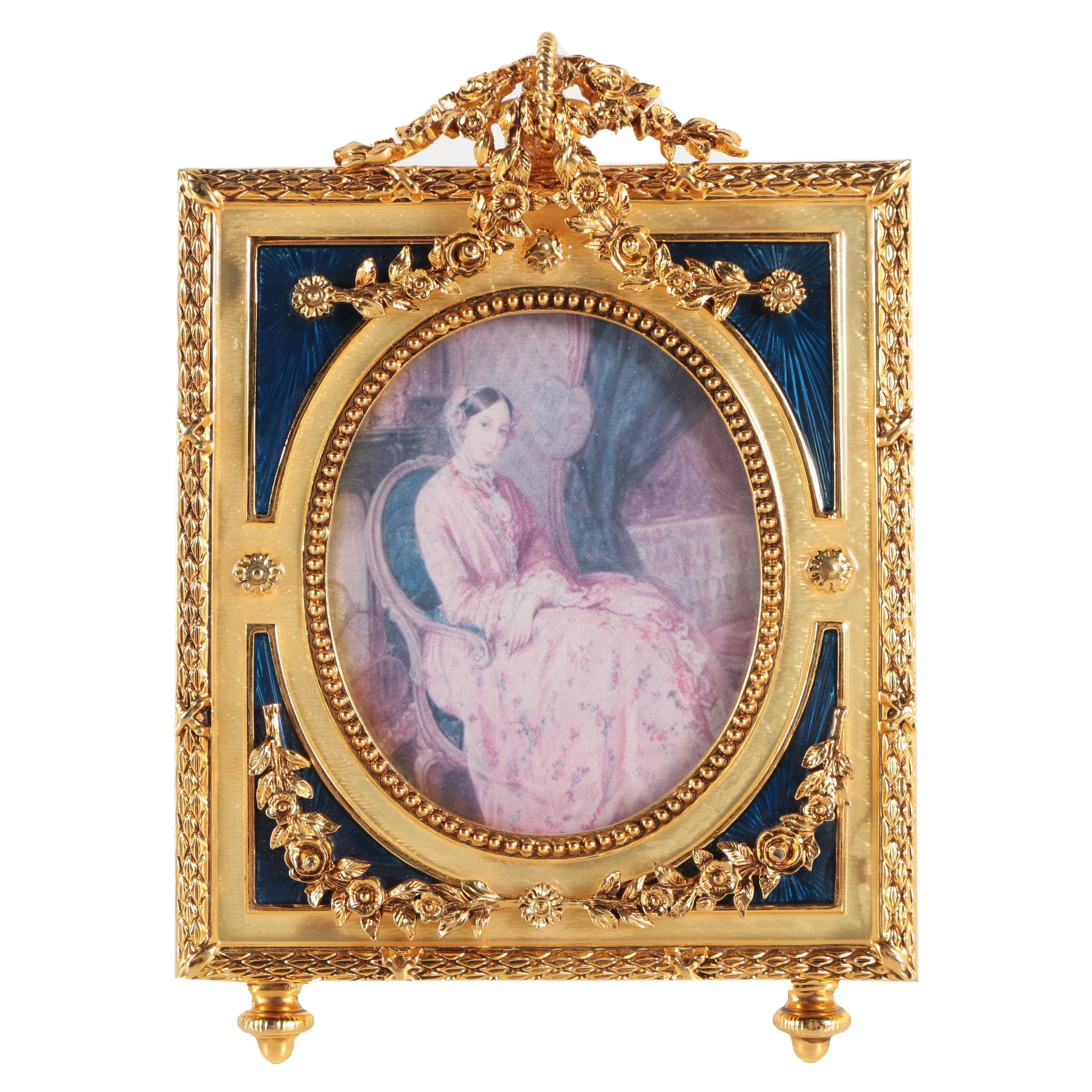 House of Fabergé Enamel and Rhinestone Picture Frame