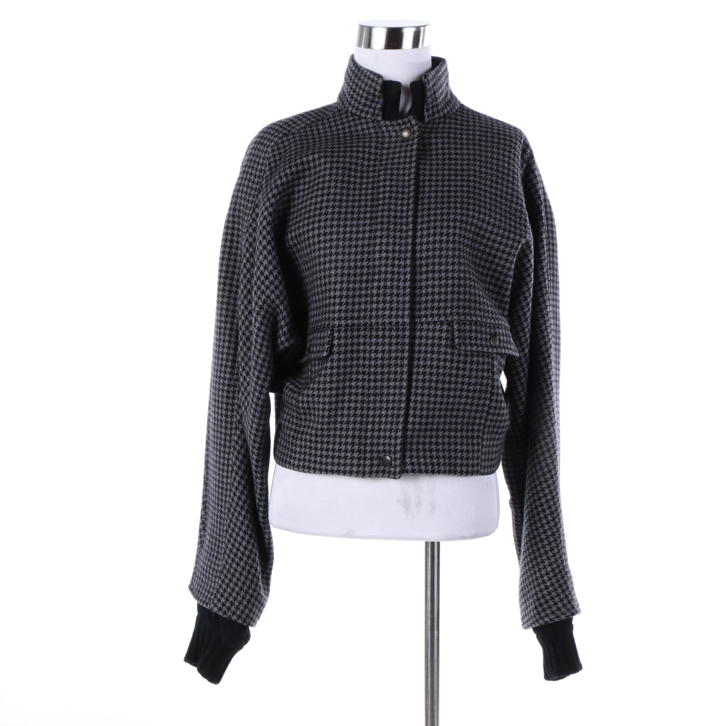 Women's Vintage Salvatore Ferragamo Wool Houndstooth Jacket