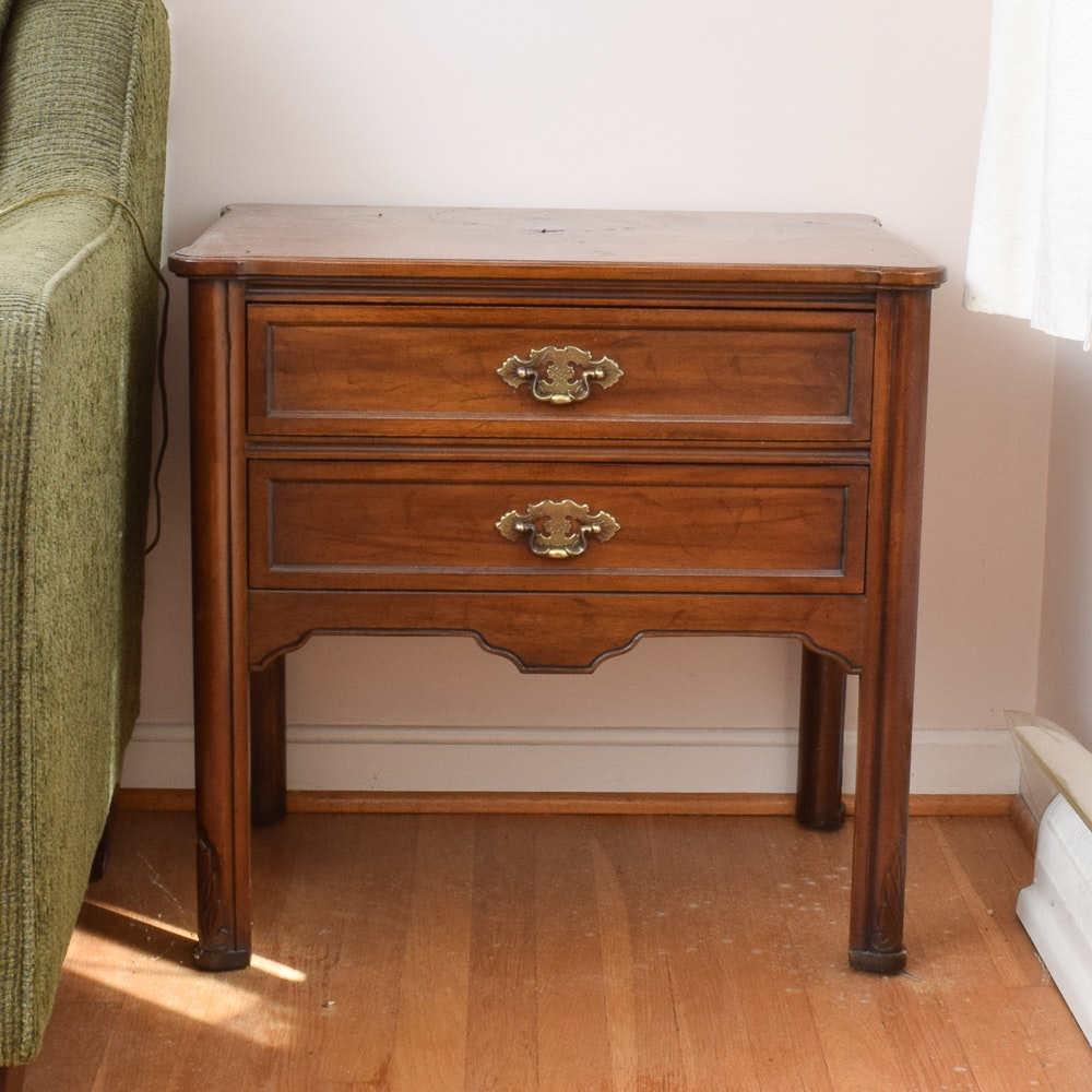 Chinese Chippendale Style Side Table by Davis Cabinet Company