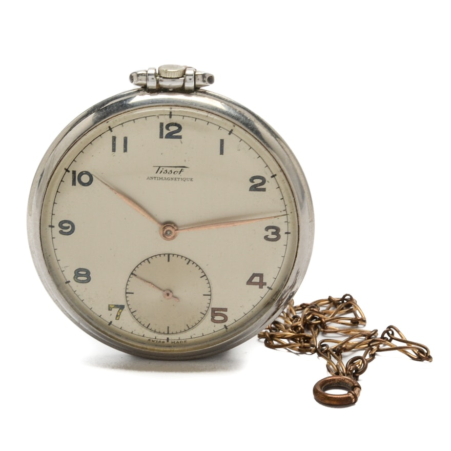 Tissot antimagnetique swiss pocket watch with fob ebth tissot antimagnetique swiss pocket watch audiocablefo