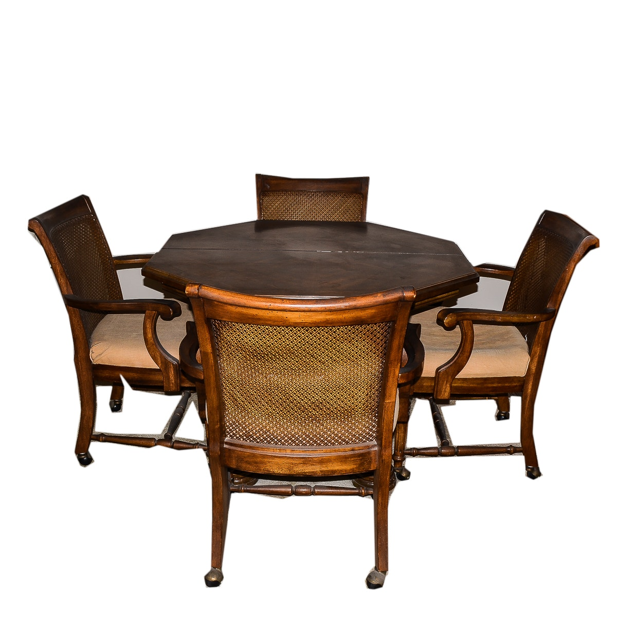 Universal Dining Table and Four Cane Back Chairs