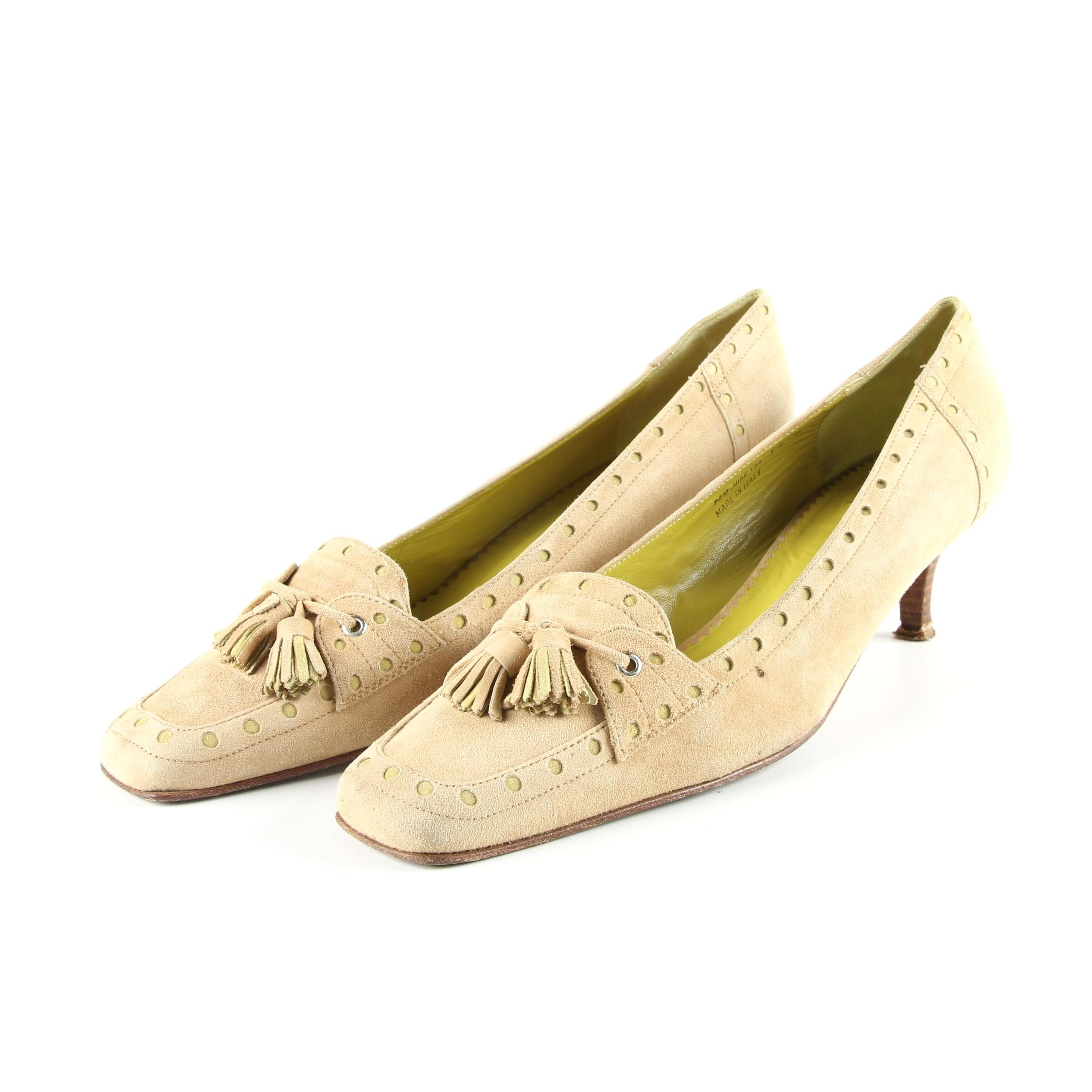 Women's Coach Jude Heeled Loafers with Tassels