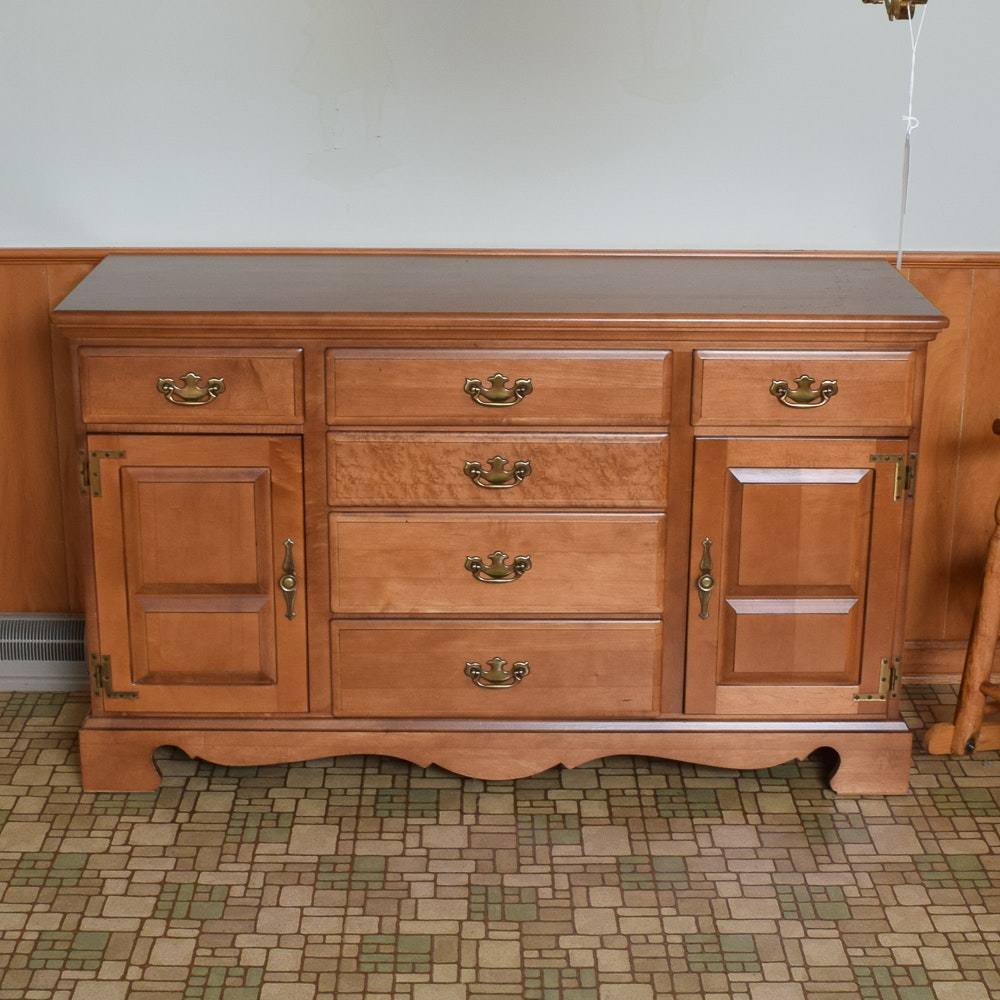 Vintage Colonial Style Maple Sideboard