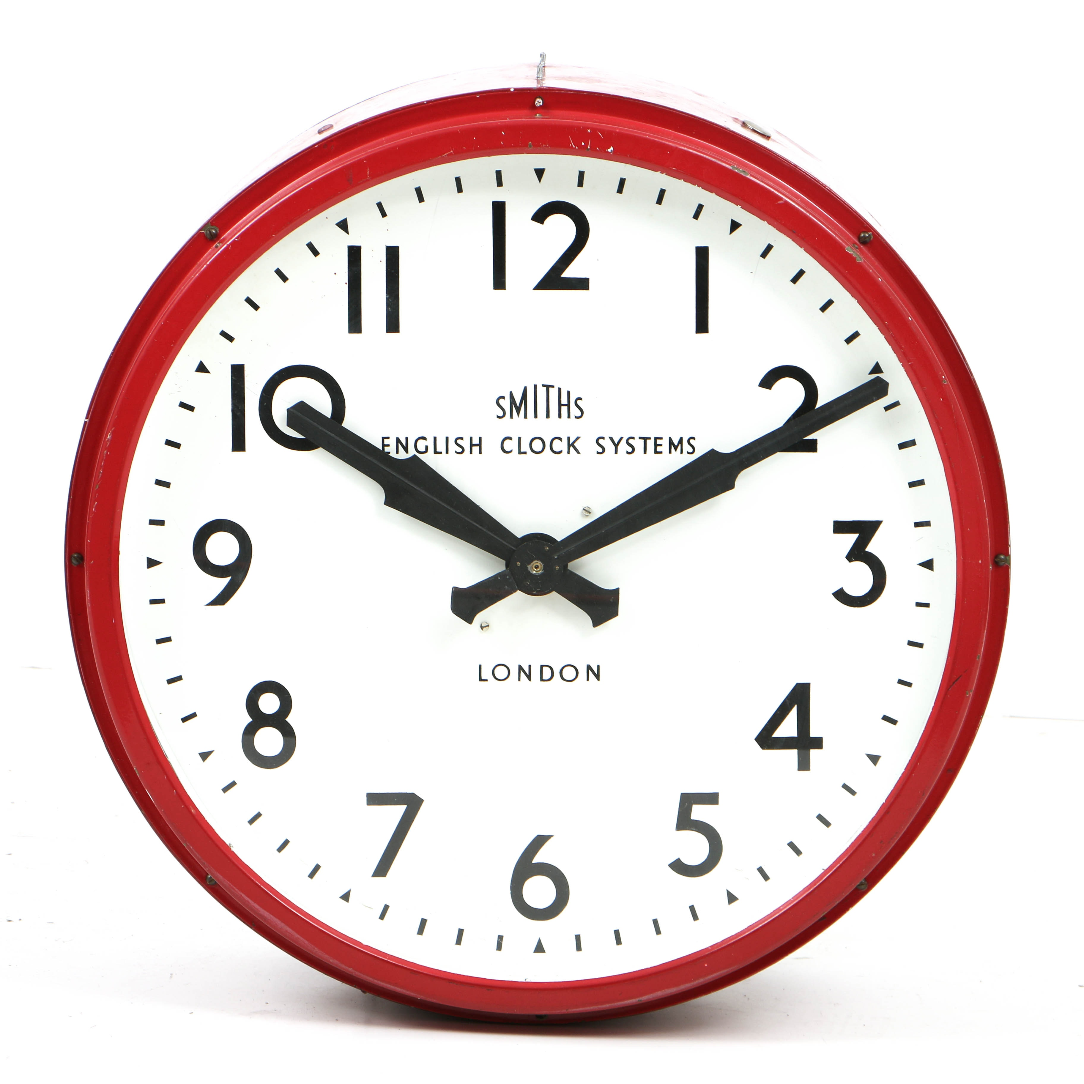 Vintage Industrial Factory Wall Clock by Smiths English Clock Systems of London