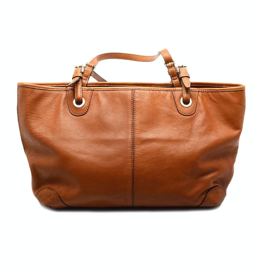 2be3122a9603 Michael Kors Tan Leather Tote Handbag   EBTH