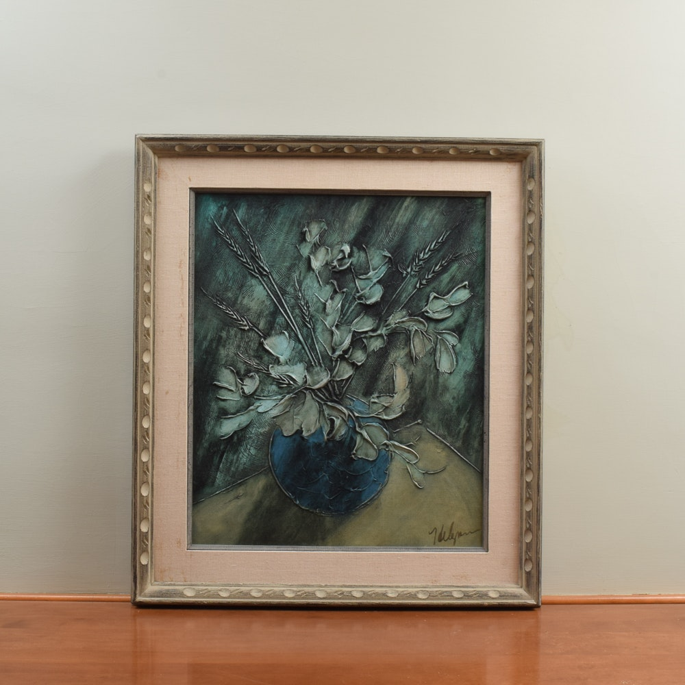 Painting on Canvas of Floral Still Life