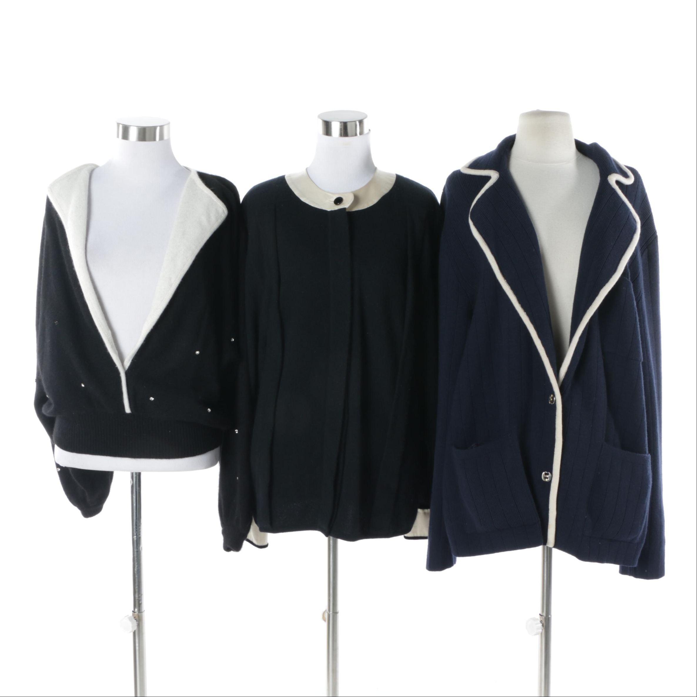 Women's Vintage Salvatore Ferragamo and Valentino Boutique Wool Sweaters