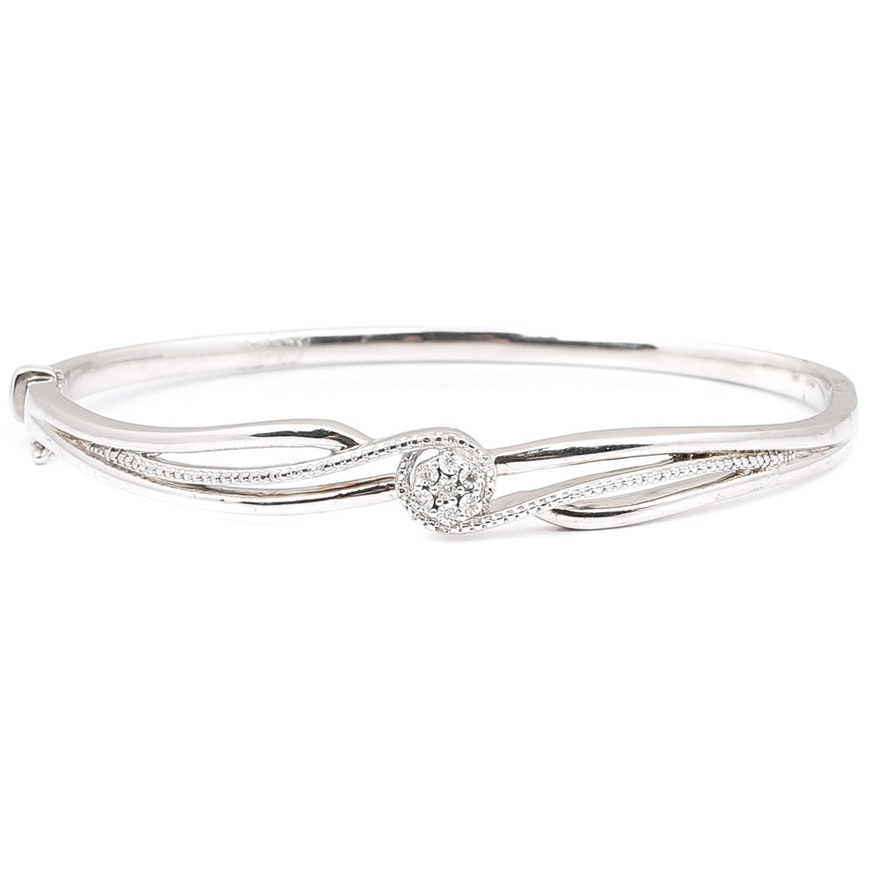 silver david bangles black midnight bracelets sterling product melange bangle bracelet yurman diamond