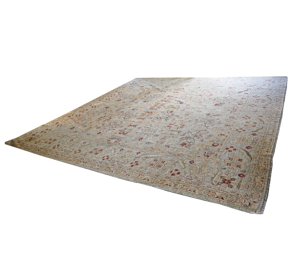 Hand-Knotted Indo Persian-Style Area Rug