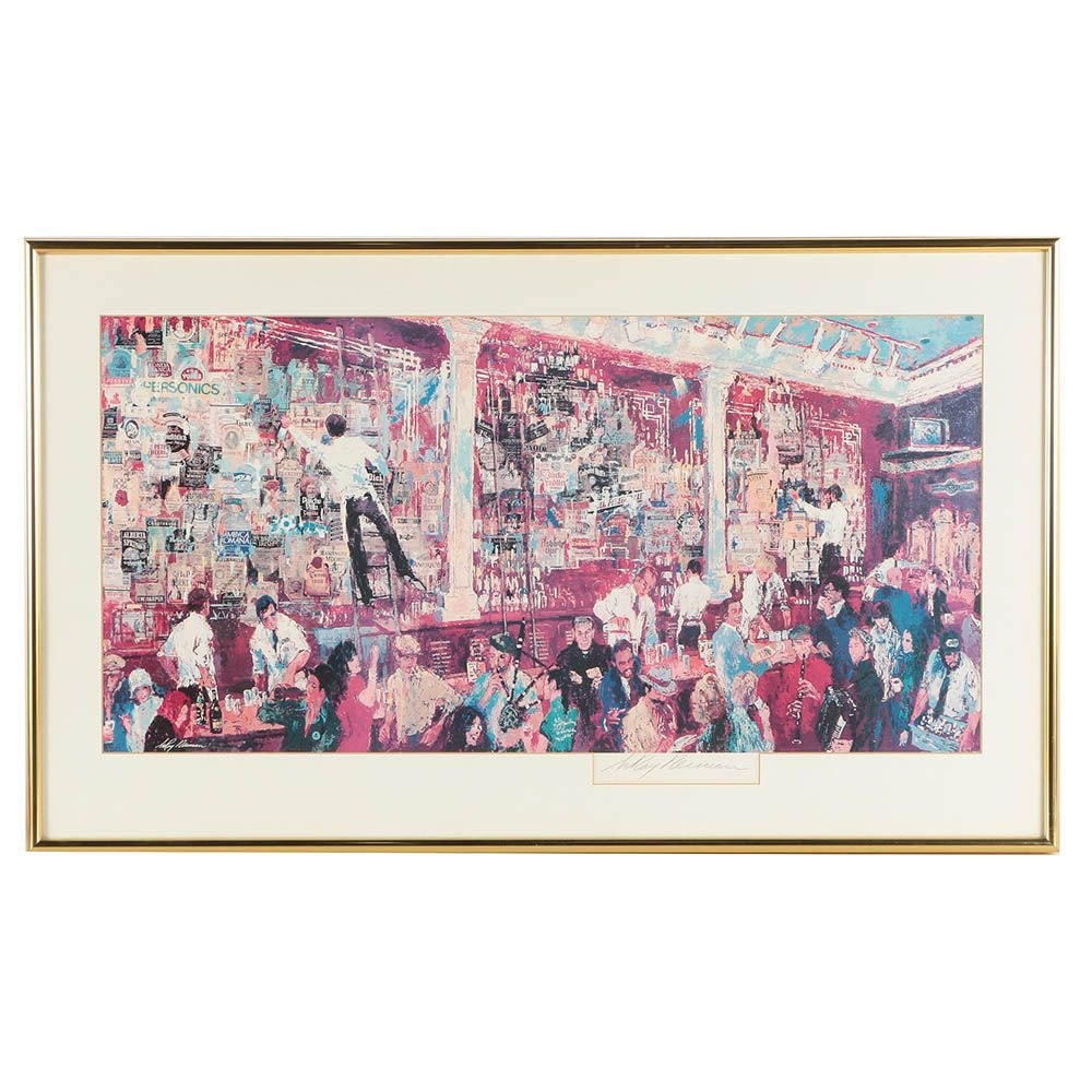 """Leroy Neiman Signed Offset Lithograph """"F.X. McCrory's Whiskey Bar"""""""