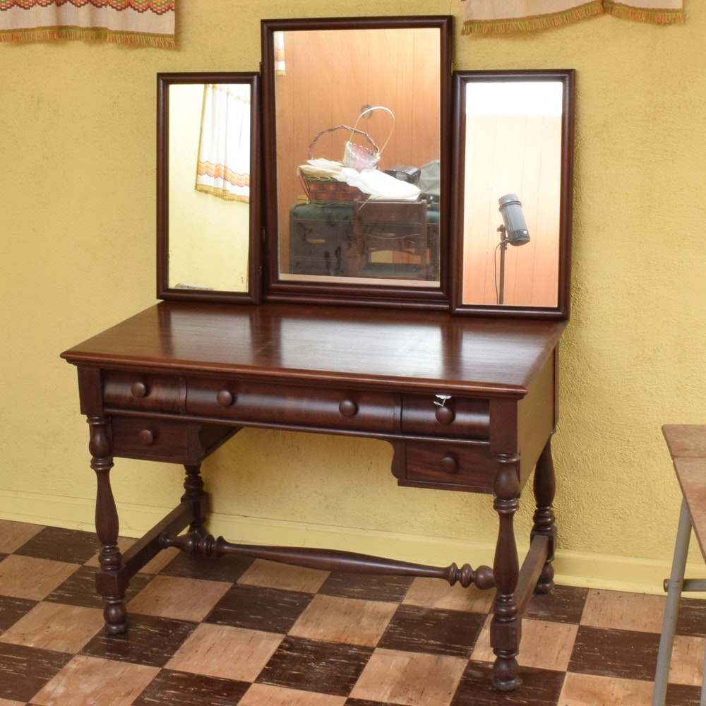 Empire Style Vanity Table with Mirrors