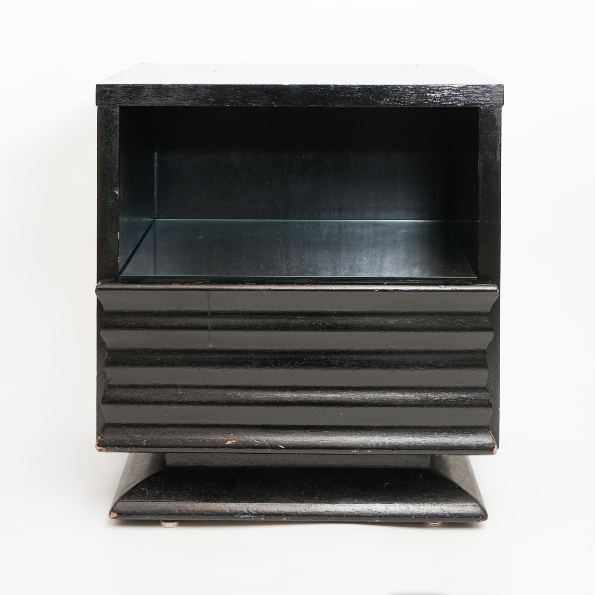 Art Deco Ebonized Wood Night Stand