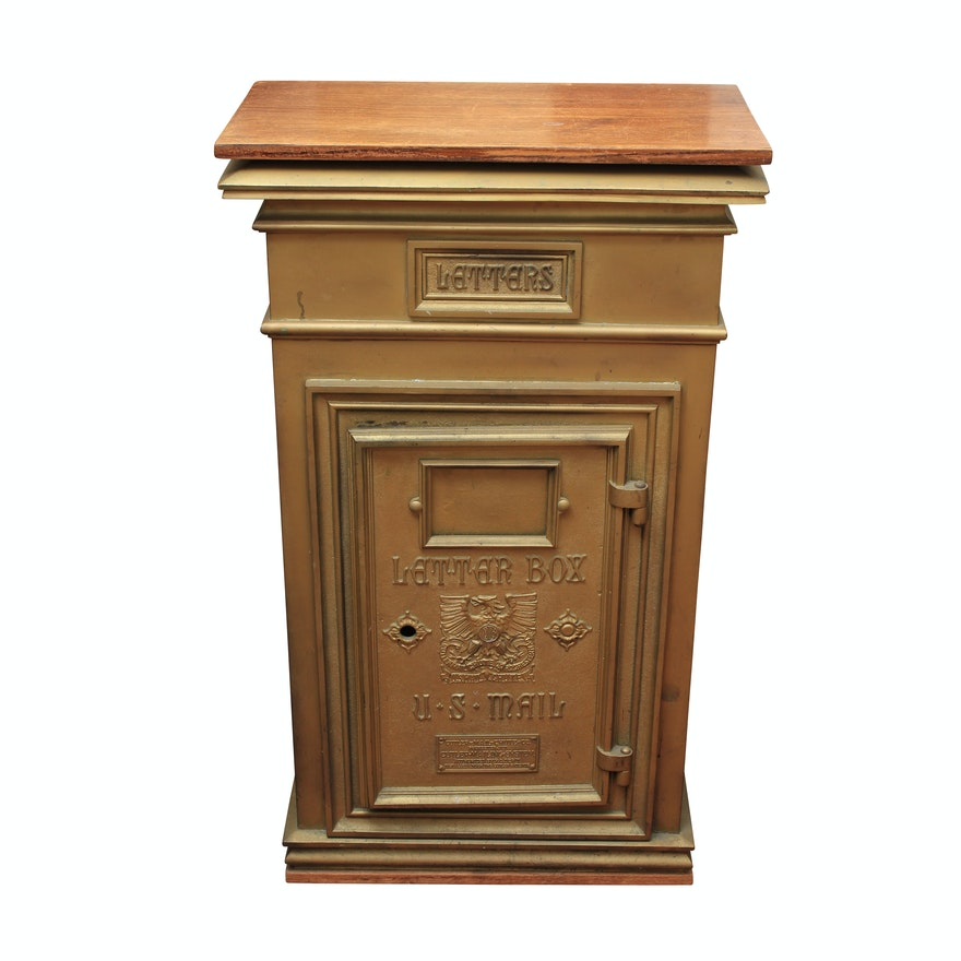 Vintage Cutler Mail Chute Co. U.S. Mail Letter Box : EBTH