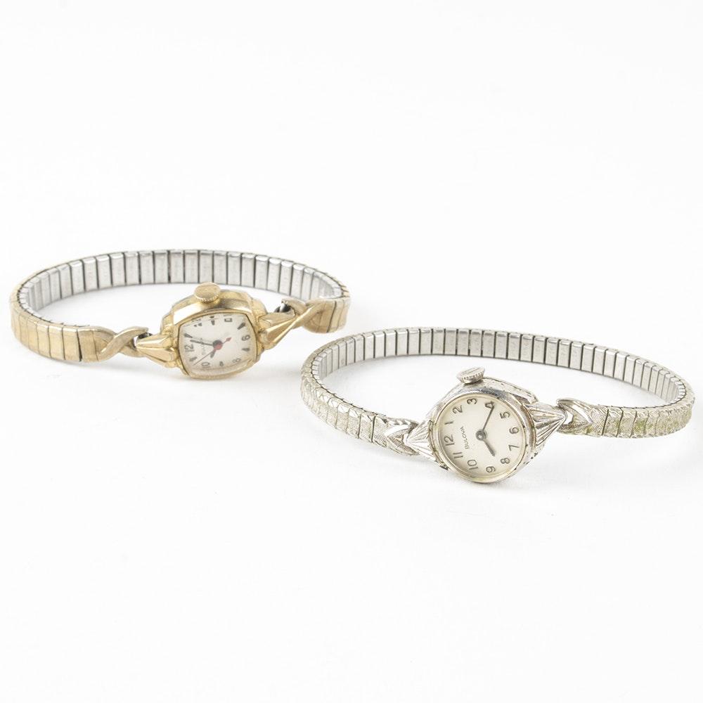 Two Vintage Bulova Wristwatches