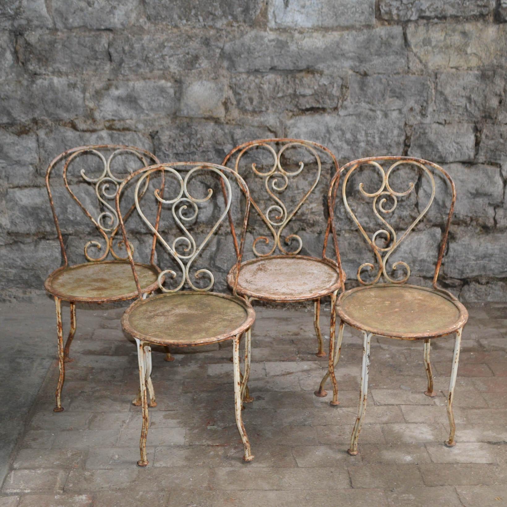 Vintage Metal Cafe Chairs ...
