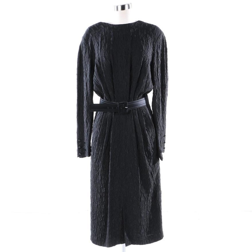 c67e3a21e45e39 1980s Vintage Escada Silk Blend Black Pleat Evening Dress   EBTH