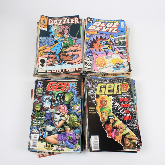 """Bronze Age Comic Books Including """"Gen 13"""" and """"Dazzler"""""""