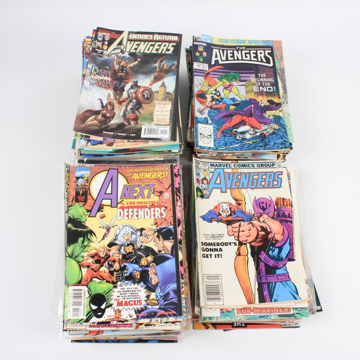 """Modern Age Comic Books Including """"The Avengers"""" and """"Catwoman"""""""
