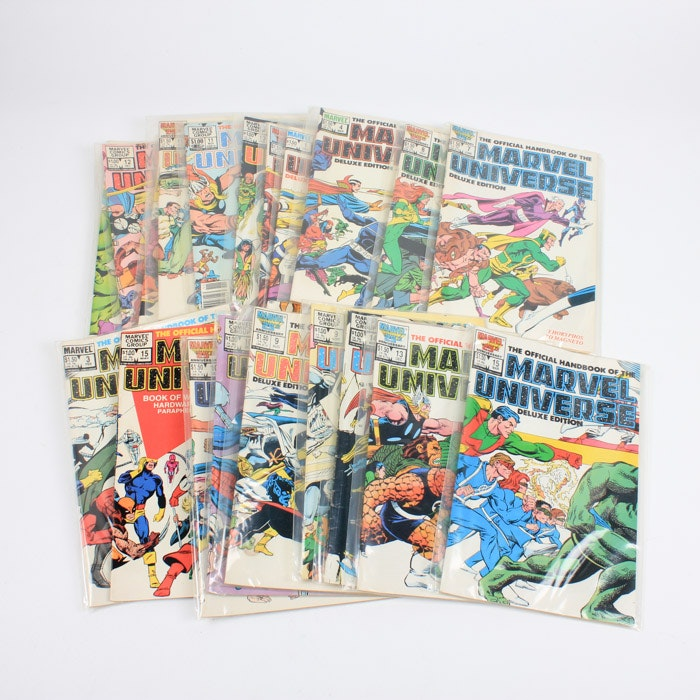 """Bronze Age Marvel """"The Official Handbook of the Marvel Universe"""" Comic Books"""