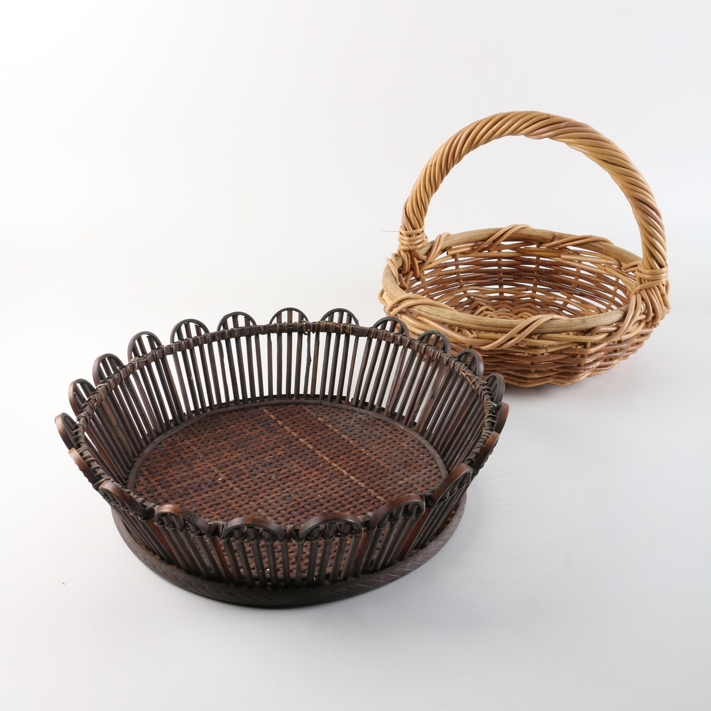 Handcrafted Wooden and Bamboo Baskets