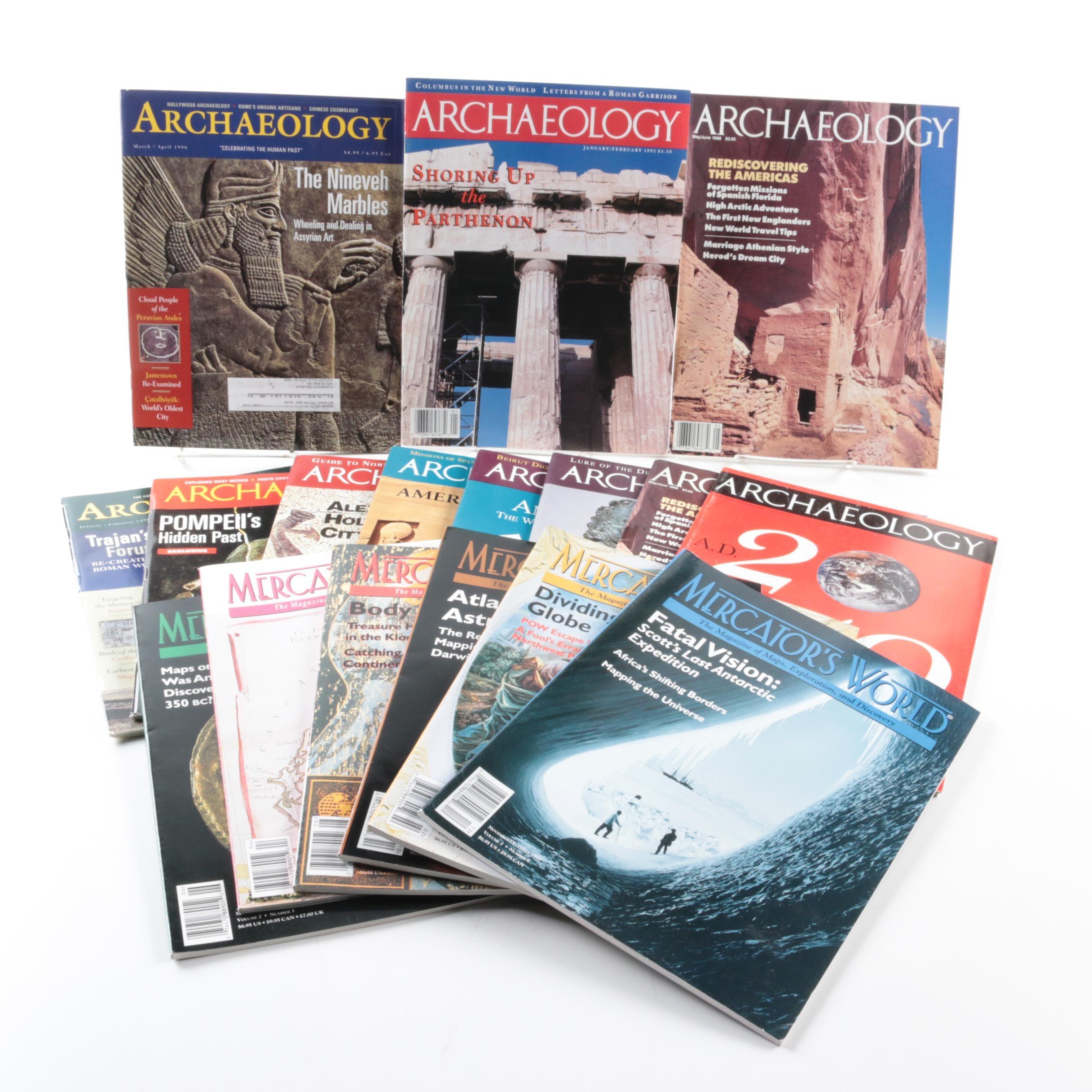 """Archaeology"" and ""Mercator's World"" Magazines"